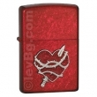 Запалка Zippo Heart Attack Emblem Candy Apple Red